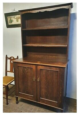 Small Sized Cottage Oak Arts And Crafts Dresser