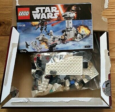 Lego Star Wars 75138 Hoth Attack- Used,complete with box,instructions & figures