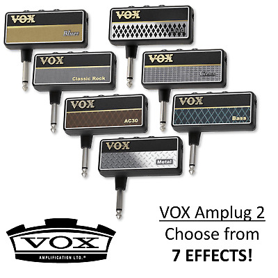 Vox Amplug 2 Mini Headphone Guitar Amplifier - Multiple Effects Available
