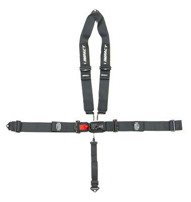 IMPACT RACING Black Latch and Link 5 Point Harness P/N 53811111