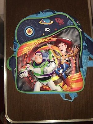 """10/'/' Disney Toy Story 4 /""""Toy Action/"""" Woody Buzz Mini School Backpack Side Pocket"""