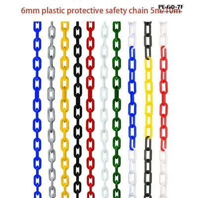 5/10m Plastic Warning Chain Road Warning Block Barrier For Traffic Crowd Parking