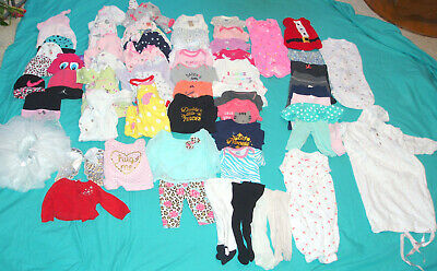 Lot of 61  pc.  baby girl clothes  , size Newborn