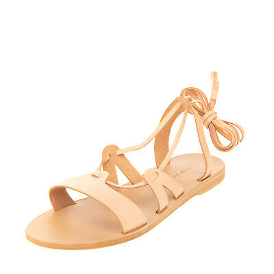 RRP €115 VALIA GABRIEL Leather Ankle Strap Sandals Size 38 UK 5 US 8 HANDMADE