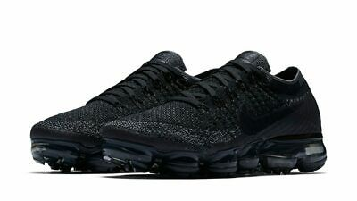 Nike Air Vapormax Flyknit Triple Black Grey Mens 849558-007