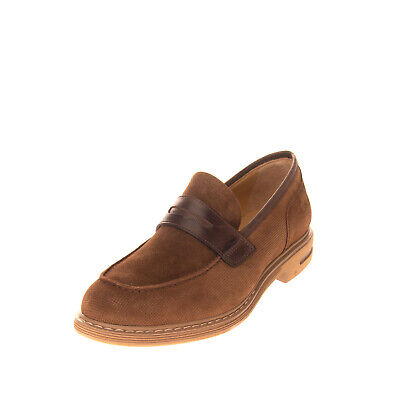 RRP €140 BRIMARTS Leather Penny Loafers Size 40 UK 6 US 7 HANDMADE Textured