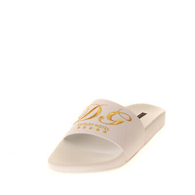 RRP €320 DOLCE & GABBANA Leather Slides Size 36 UK 3 US 6 Logo Made in Italy