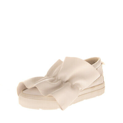 RRP €345 MSGM Leather Sneakers EU 39 UK 6 US 9 Ruffle Flatform Made in Italy