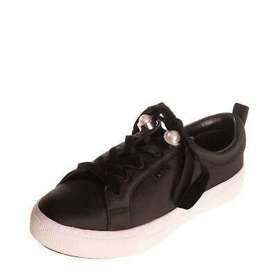RRP €195 KARL LAGERFELD Satin Sneakers EU 38 UK 5 US 7 Faux Pearls Decoration