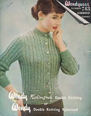 FREE P/&P! Vintage 50s Knitting Pattern Lady/'s /'Wave Edge/' Jumper 36-40 Bust