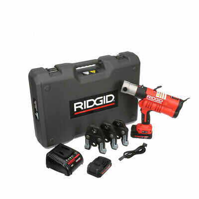 "Ridgid 43353 Rp 340 Battery Press Tool Kit With Propress Jaws (1/2""-1"")"