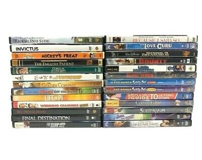 Lot of 25 Used DVD Movies - 25 Bulk DVDs - Used DVDs Wholesale Lot