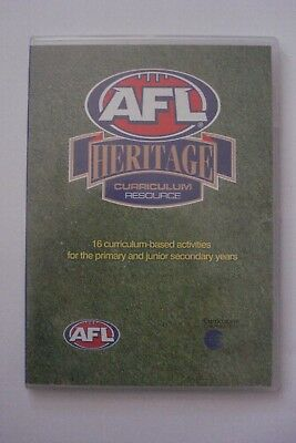 + Afl Heritage Curriculum Resource [Pc Cd-Rom] Aussie Seller
