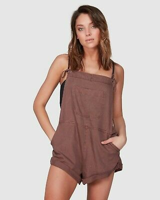 BILLABONG NEW Womens wild pursuit NUTMEG JUMPSUIT PLAYSUIT TIE STRAPS  FREE POST