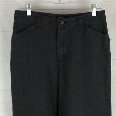Riders Casuals womens size 10 x 31 gray flat front mid rise relaxed pants EUC