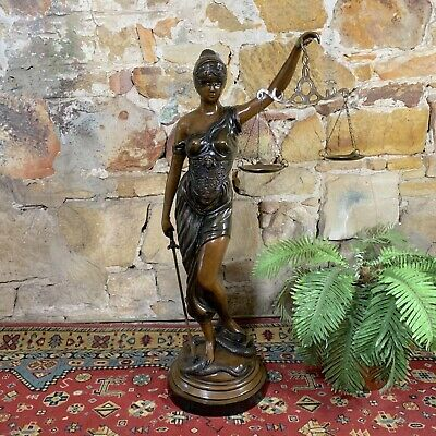 Large Cast Metal Bronzed Themis~Goddess of Justice Figurine~Statue~140cms