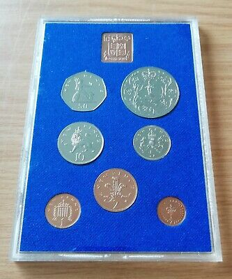1977 Royal Mint Proof Seven Coin Set Of Great Britain And Northern Ireland.mint.