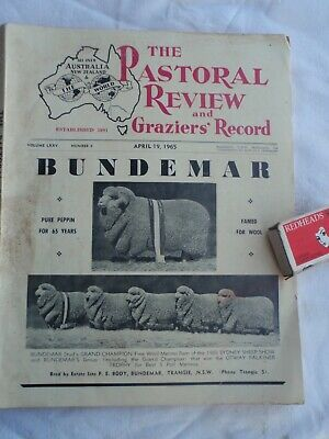 Pastoral Review  1965   farm articles &  Adverts