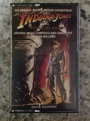 Indiana Jones And The Temple Of Doom SoundTrack Cassette Tape 821-592-4 Y-1 MINT