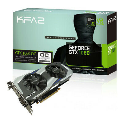 Scheda Video KFA2 GeForce GTX1060 3 GB OC Gaming Grafica GTX 1060 3G