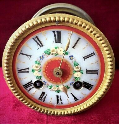 Nice French 8 Day Bell Striking Clock Movement By Japy Freres