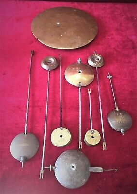 Good Job Lot Of Old French Clock Pendulums