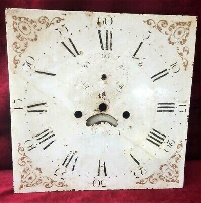 Nice Early 12in Grandfather/Longcase Clock Painted Dial With Calendar Disk