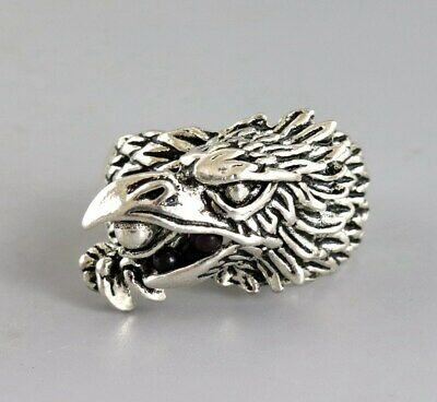Collectable China Miao Silver Hand Carved Eagle Fashionable Decorate Unique Ring