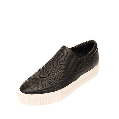 RRP €210 ASH Leather Slip On Sneakers Size 36 UK 3 US 5 Trapunto Pattern