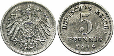 GERMANY: 1916 E 5 Pfennig #WC69242