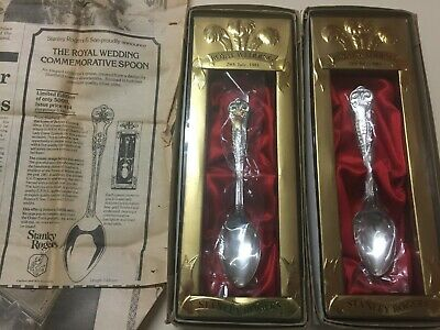 2 x Stanley Rogers Royal Wedding Charles and Diana Souvenir Spoon NEW