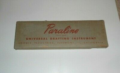 One USED Vintage Loomis Paraline Universal Drafting Instrument - Made in USA