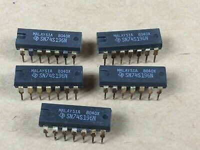 RESETTABLE DECADE OR 1PCS SN74S196N  Encapsulation:DIP-14,50//30//100-MHz