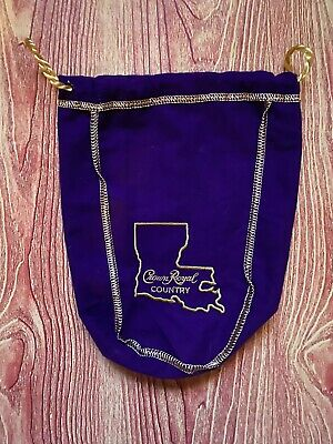 Limited Edition Crown Royal Montana Is Crown Country Purple Bag Collector
