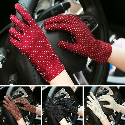 Dot Wrist Glove Women Gloves Summer Fashion Mittens Protection Wdding Gloves New
