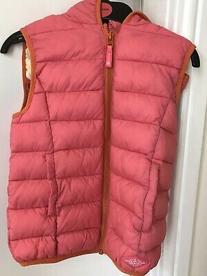 Girls Next Pink/Orange Gilet Age 9 (body warmer). Small - Would Fit Tall Age 5/6