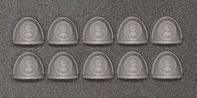 Warhammer 40,000 - Imperial Fists Space Marine Shoulder Pads x 10 - Custom Made