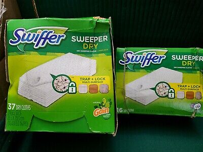 Swiffer Sweeper Dry Pad Refills, Gain Scent parfum 37 ct and 16 febreze.53 dry c