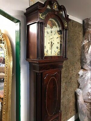 Beautiful Mahogany Inlade Antique Grandfather Clock