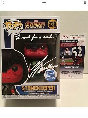 Ross Marquand Signed Stone Keeper Avengers Funko POP with quote JSA