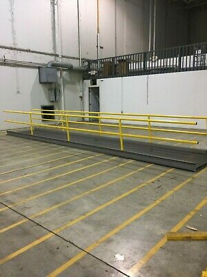 "Steel Diamond Plate Ramp Walkway Bridge 48"" Width 25' Long Handicap"