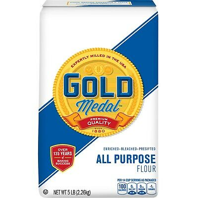 Gold Medal All Purpose Flour ( TWO 5 Lb. Bags ) FAST SAME DAY SHIPPING !!!