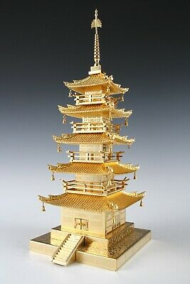 Vintage Five Storied Small Pagoda -Horyuji Temple- Japan World Heritage