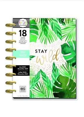 "NEW: The Happy Planner ""Stay Wild"" Classic 18 Month 2020/202"