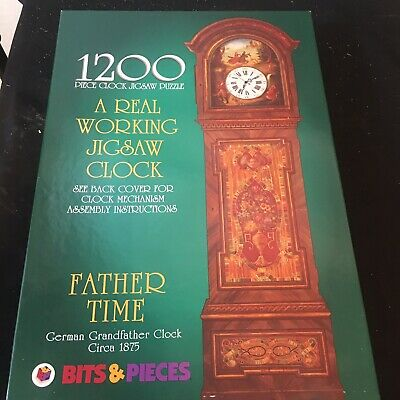 New Father Time German Grandfather Working Clock Mechanism Puzzle Bits & Pieces