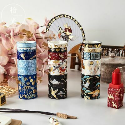 Decorative Retro Divine Gold Washi Tape Set Japanese Paper Stickers Scrapbooking