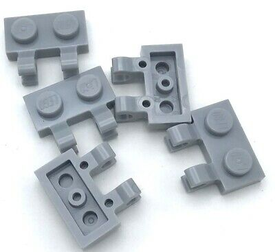 Lego Lot of 100 New Light Bluish Gray Plates Modified 1 x 2 with Clip Horizontal