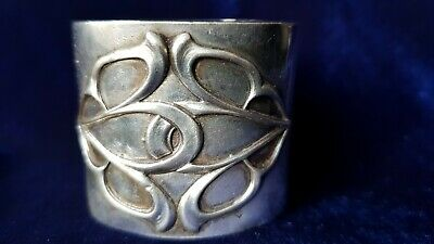 Antique French Sterling silver  napkin ring MINERVA 38 g ART NOUVEAU GUIMARD