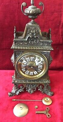 Great French 8 Day Bronze Mantle Clock