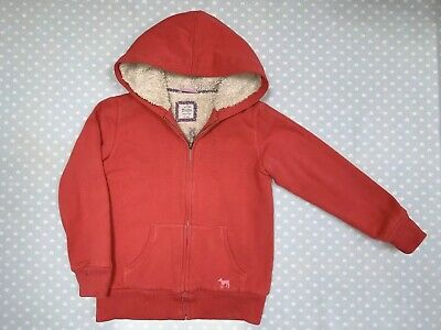 Mini Boden Girl's Coral Red Hoodie. Age 9-10